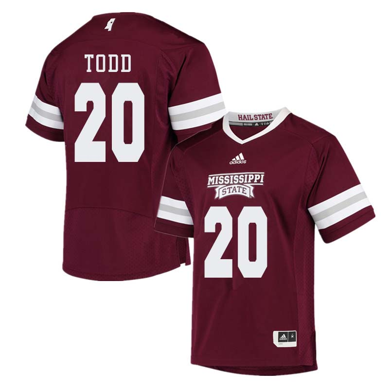 Men #20 Reginald Todd Mississippi State Bulldogs College Football Jerseys Sale-Maroon